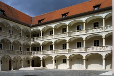Innenhof des Thon-Dittmer-Palais am Haidplatz. © Stadt Regensburg, Bilddokumentation