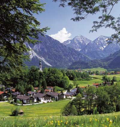 Ruhpolding am Fuße der Bayerischen Alpen. © Gemeinde Ruhpolding