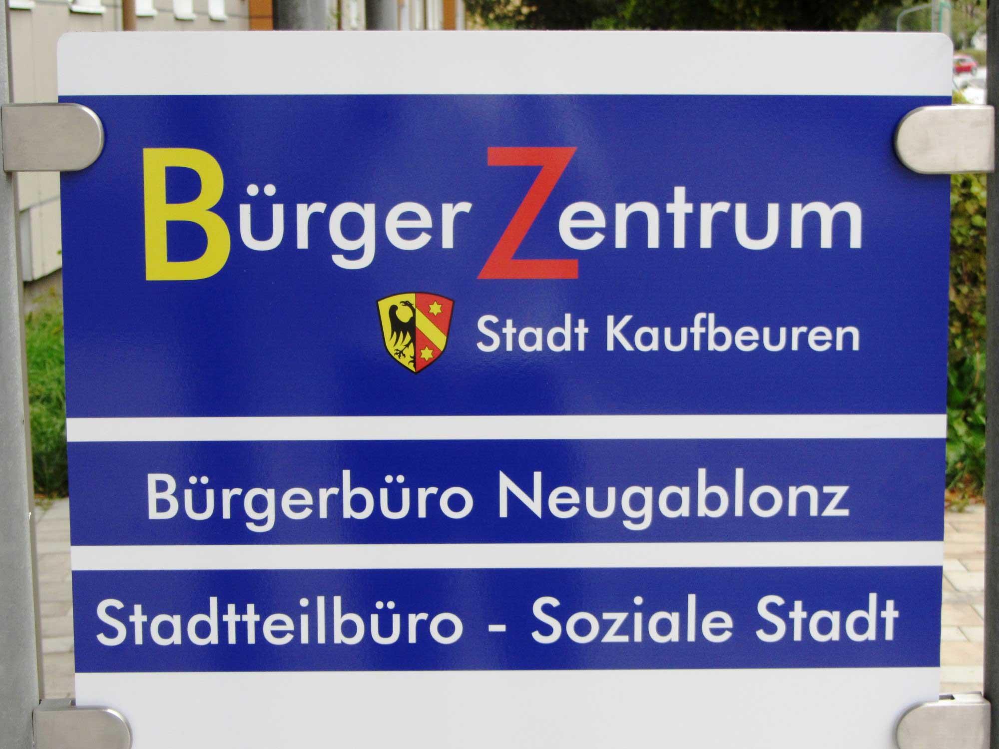 Bürger Zentrum, Bürgerbüro Neugablonz