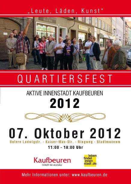Quartiersfest 2012  07. Oktober 11:00 - 18:00